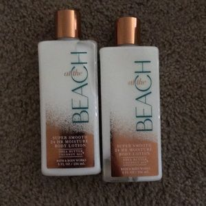 At the beach lotion